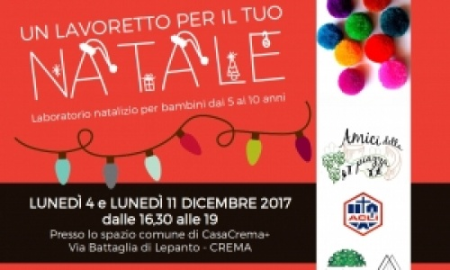 Lavoretti di Natale all'Housing Sociale