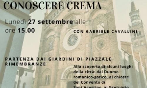 Alla scoperta della città di Crema, lunedì 27 settembre